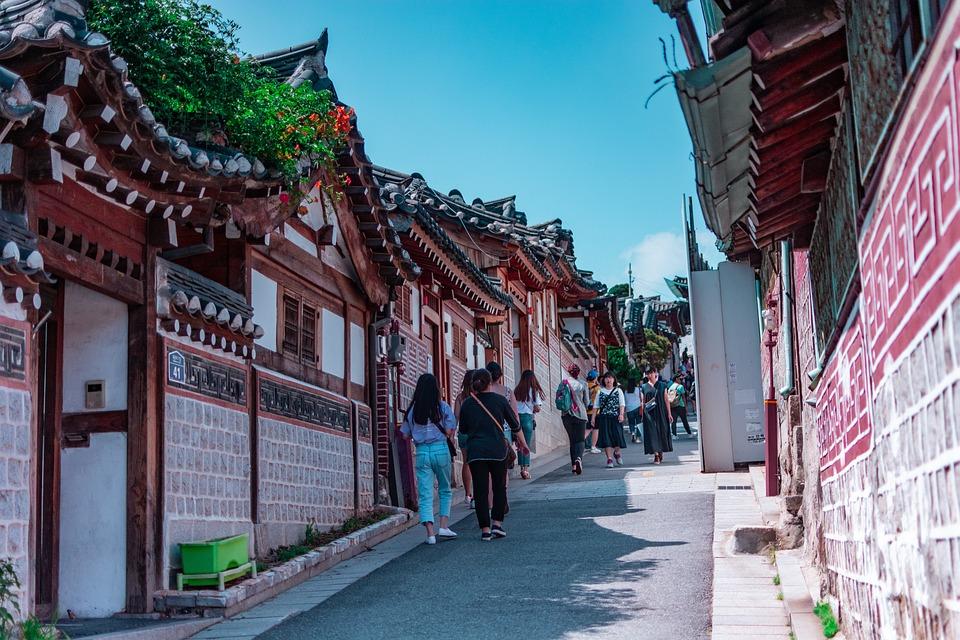 Korea, Korea Selatan, Tradisional, Langit, Warisan