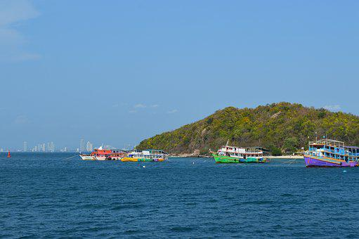 Pattaya, Bay, Pier, Quay, Resort
