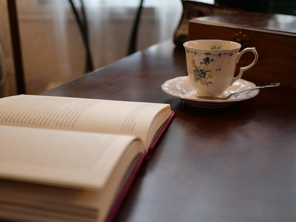 Coffee, Book, Cosy, Table, Dish, England