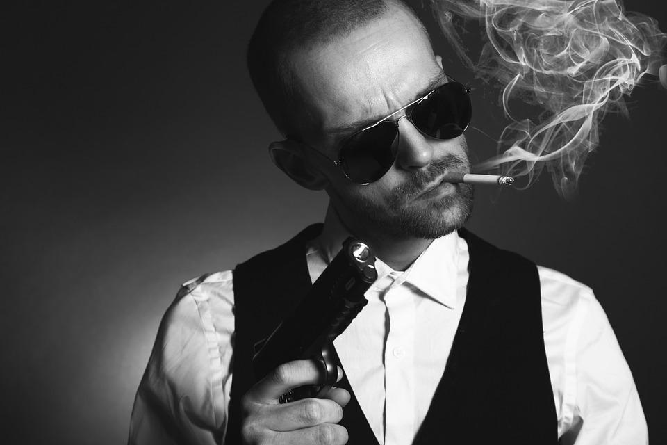 ギャング スター, 男, マフィア, 刑事, スパイ, 犯罪, 銃, 怒って, 男性, 武器, サングラス