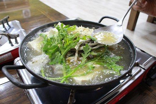 韓国料理, 豆腐鍋, 米, 食事, 料理, おいしい, Buttercup