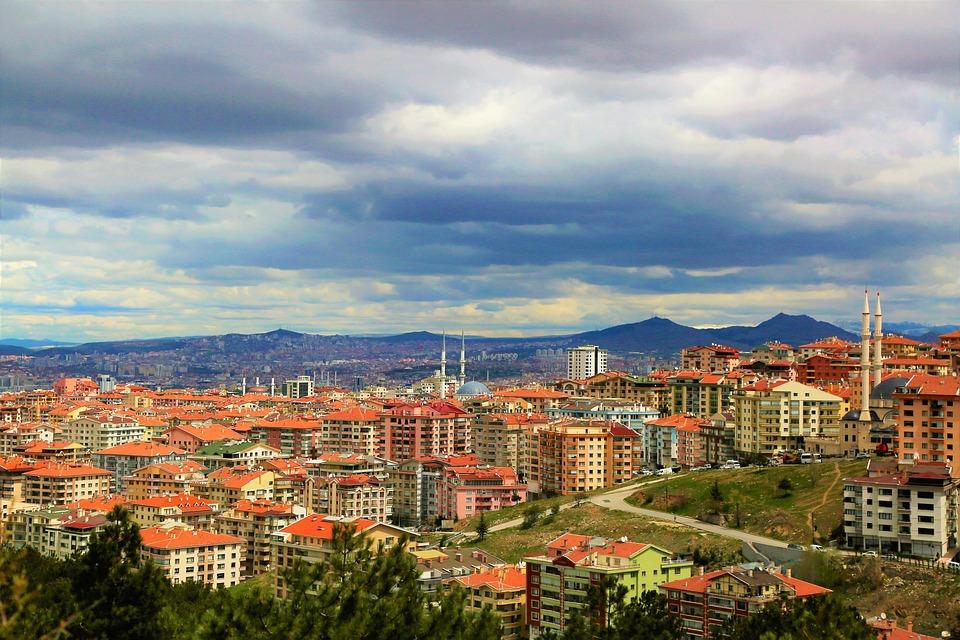 City, Ankara, Architektura, Miejskich, Budynku, Podróży