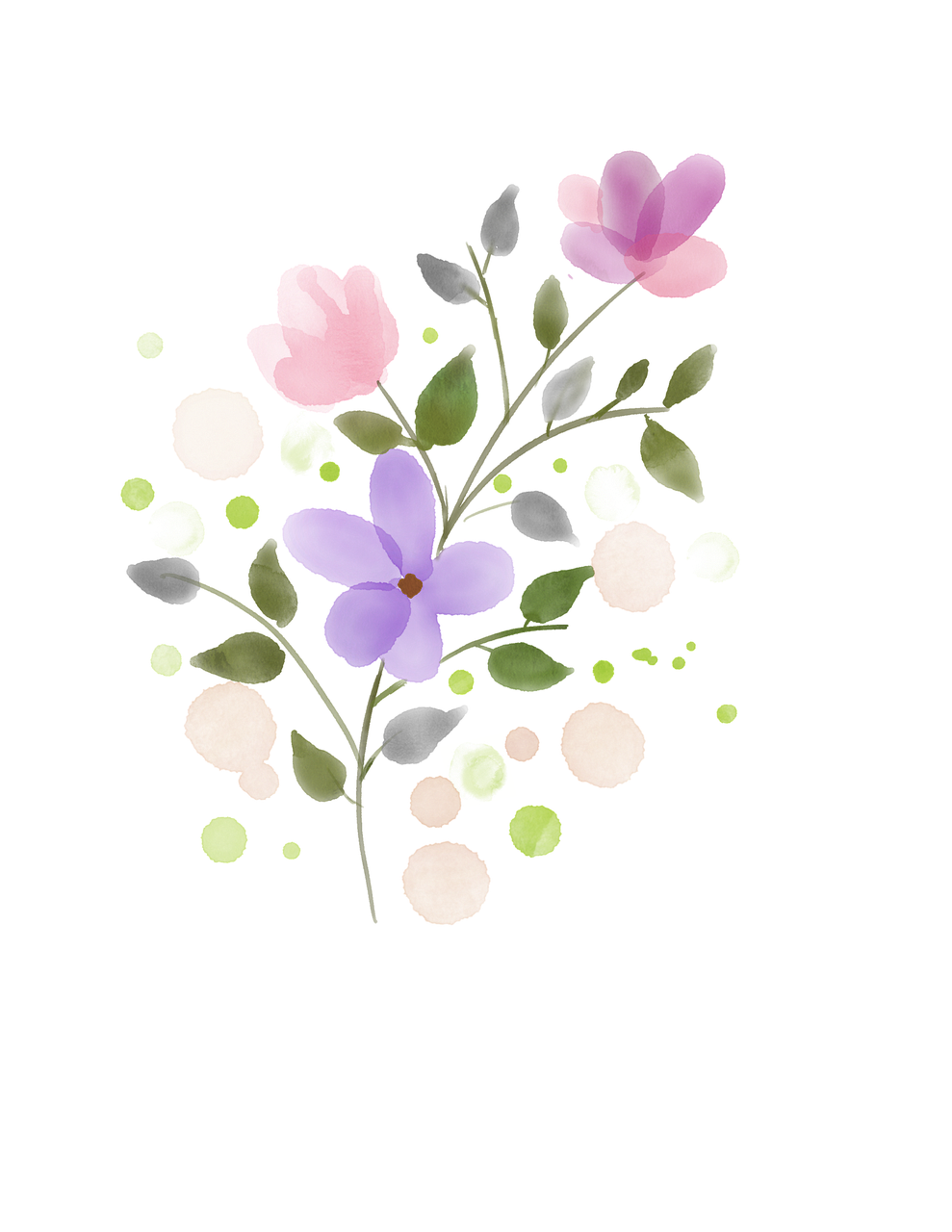 Flower Watercolor Spring Free Image On Pixabay