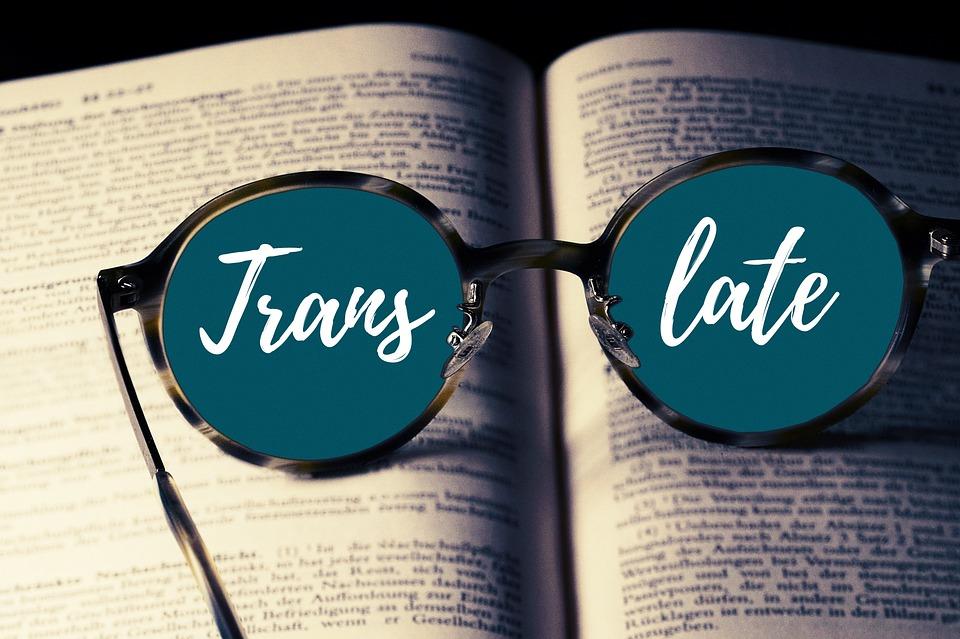 Buch, Brille, Übersetzen, Übersetzung, Fremdsprache