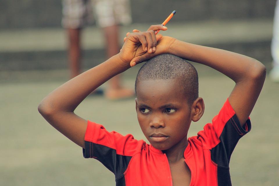 Africano, Bambino, Matita, Educazione, Futuro