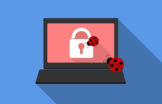 ラップトップ, セキュリティ, ウイルス, 保護, インターネット, マルウェア