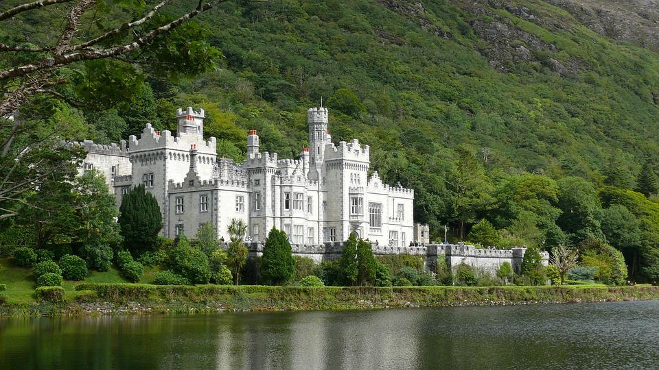 Kylemore, Abbey, Ireland, Castle, Building, Monastery
