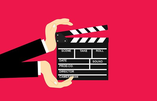 Movie, Clapperboard, Hands, Clapper