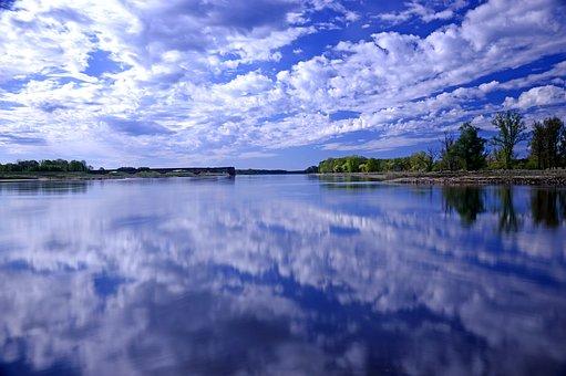 Fluss, Flusslandschaft, Grenzfluss