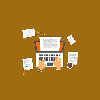 仕事, フリーランス, オンライン, オフィス, 起業家, 会社, メモ帳