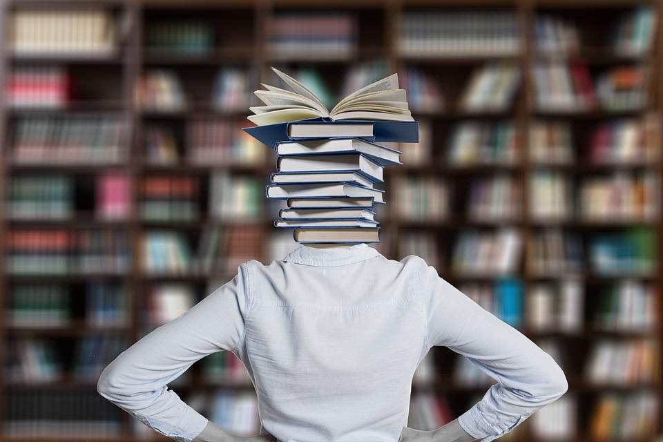 書籍, 疑問符, 学生, スタック, 本のスタック, ライブラリ, 本, 学ぶ, 教育, 知っています, 情報