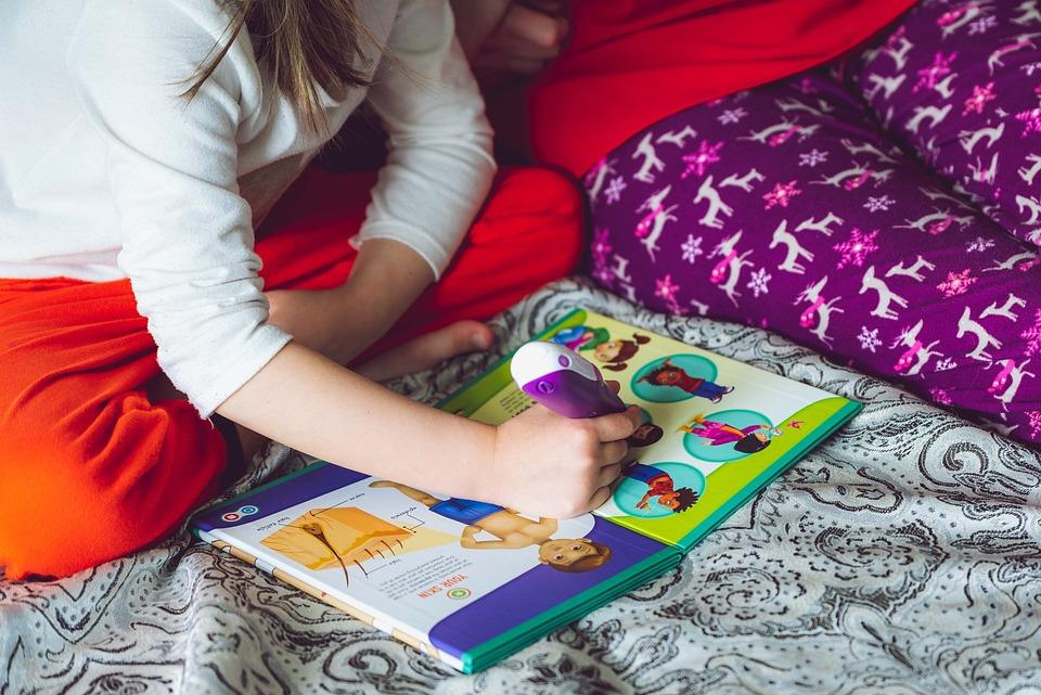Buku, Membaca, Anak, Gadis, Elektronik, Pena, Leapfrog
