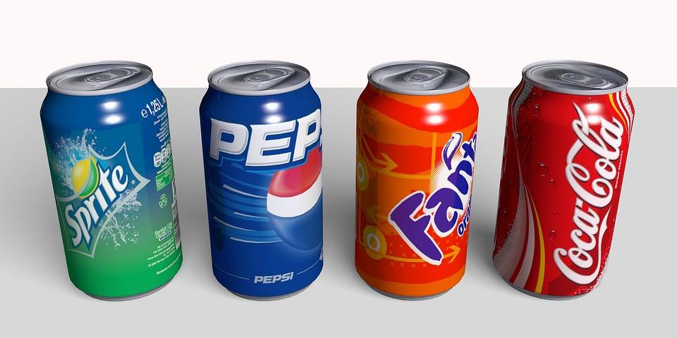 Lattine, Può, Coca Cola, Coca, Cola, Sprite, Fanta