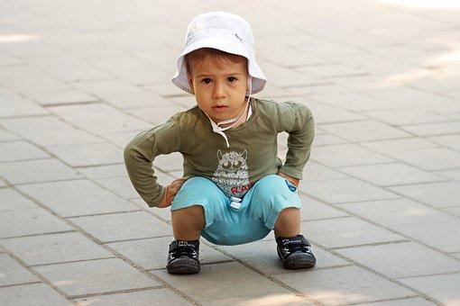 子, 小さな, かわいい, 愛らしい, 幸せ, 幼児期, 少年, 人の, 子供