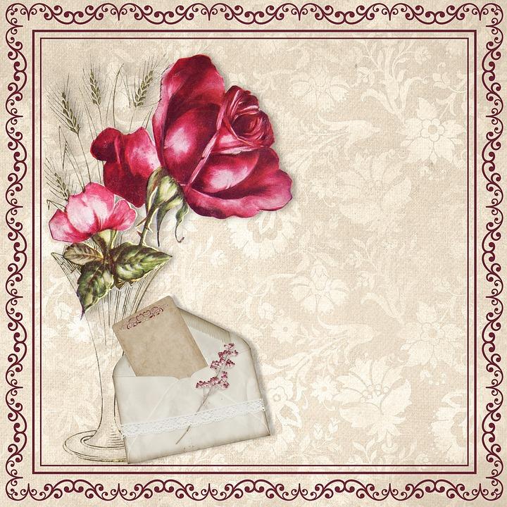 Vintage Mawar Surat Gambar Gratis Di Pixabay