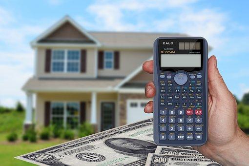 コスト, 電卓, ユーロ, Dollar, お金, 住宅建設, 家, ビルド