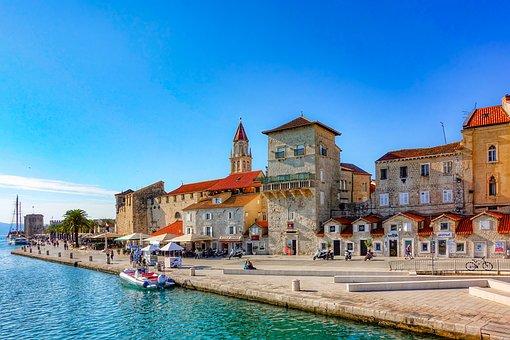 Trogir, Altstadt, Stadt, Hafen, Adria