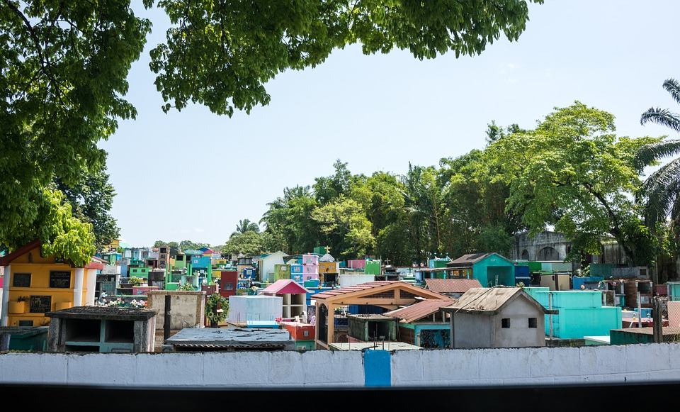 Gwatemala, Cmentarz, Kolorowe, Natura, Podróży