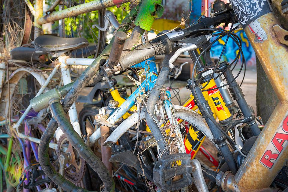 Fahrräder Schrott Rost Kostenloses Foto Auf Pixabay