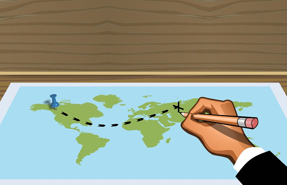 Suunnitelman Matka Kartta Ilmainen Kuva Pixabayssa