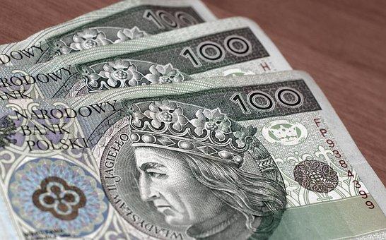 Money, Euro Banknotes, Polish Zloty