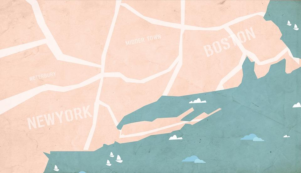Boston Kartta Boston Kaupungin Kartta Yhdysvallat