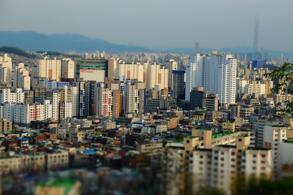 도시, 풍경, 서울, 지평선, 자본, 획기적인