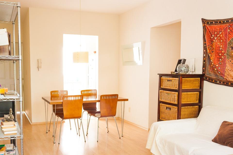 屋内, アーキテクチャ, インテリア, 屋内で, 現代, ルーム, ダイニングルーム, 家具, アパート