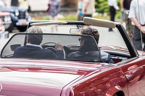 ドライバ, カブリオレ, 車を運転します, 自動, トラフィック