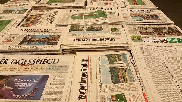 新聞, ニュース, プレス, 情報, 読み取り, 紙, メディア