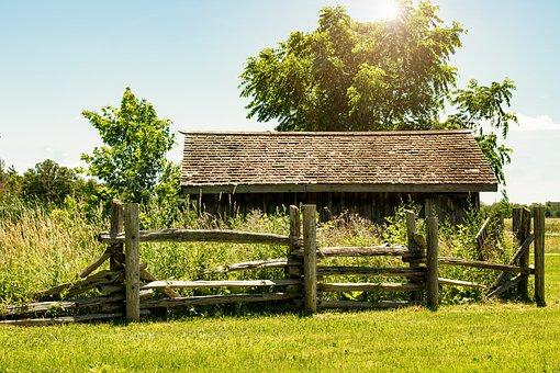 Cabane en bois, cabane en rondins, cabine, grange