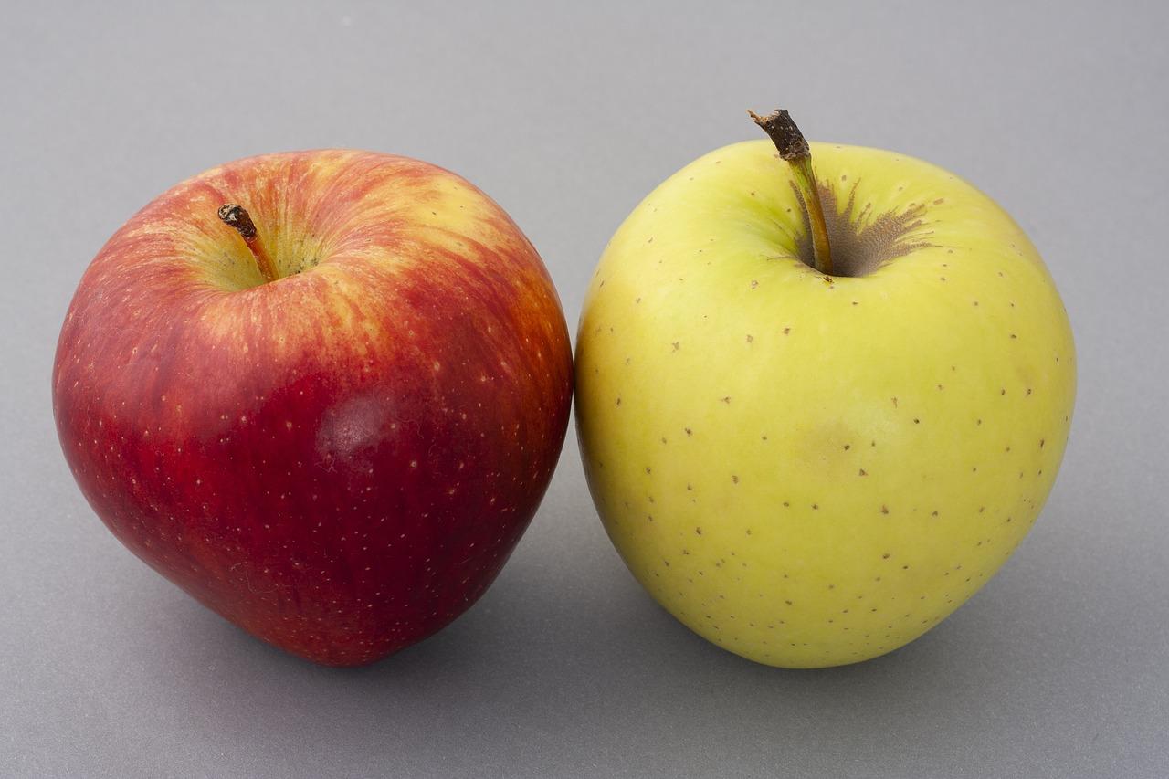 картинка яблоко зеленое и желтое