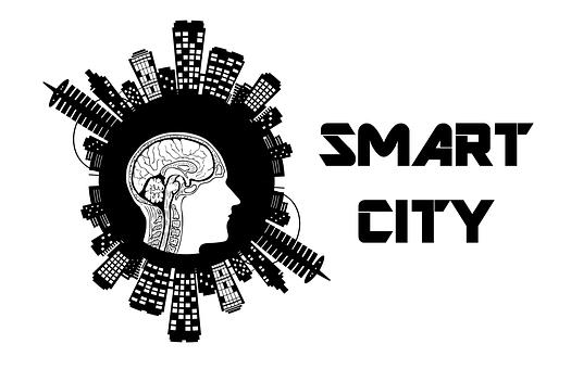 Smart, City, Brain, Buildings, Head