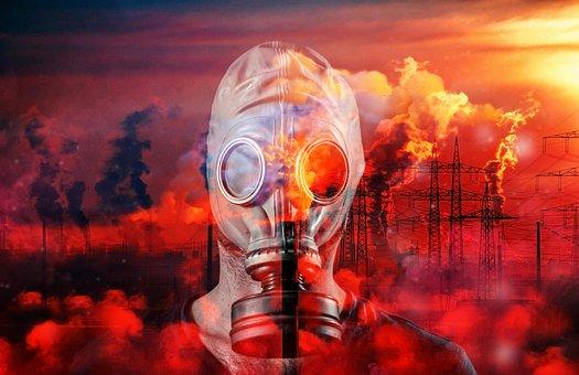 ガス, マスク, 毒性, 気候保護, 気候変動, 環境, 環境破壊, 化学物質