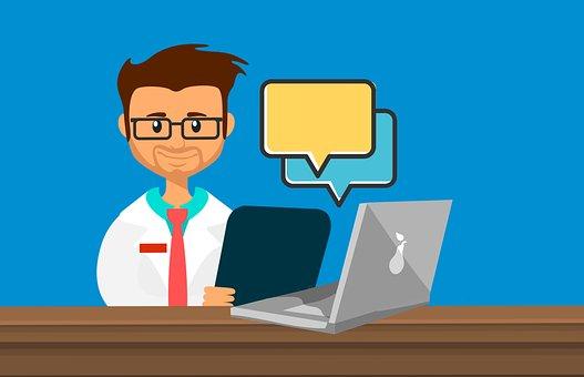 Läkare, Online, Medicinsk, Chatt, Apotek