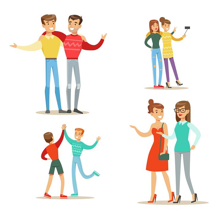 Vrienden, Familie, Vriendschap, Gelukkig, Mensen