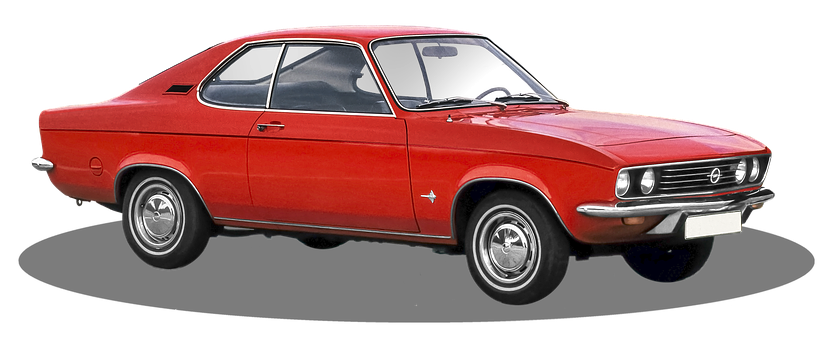Opel, Manta-A, Gm, Isolated, And Colored
