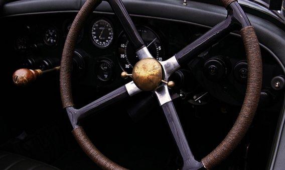 自動, 古典的な, ビンテージ, レトロ, 自動車, 車両, 豪華な, 古い