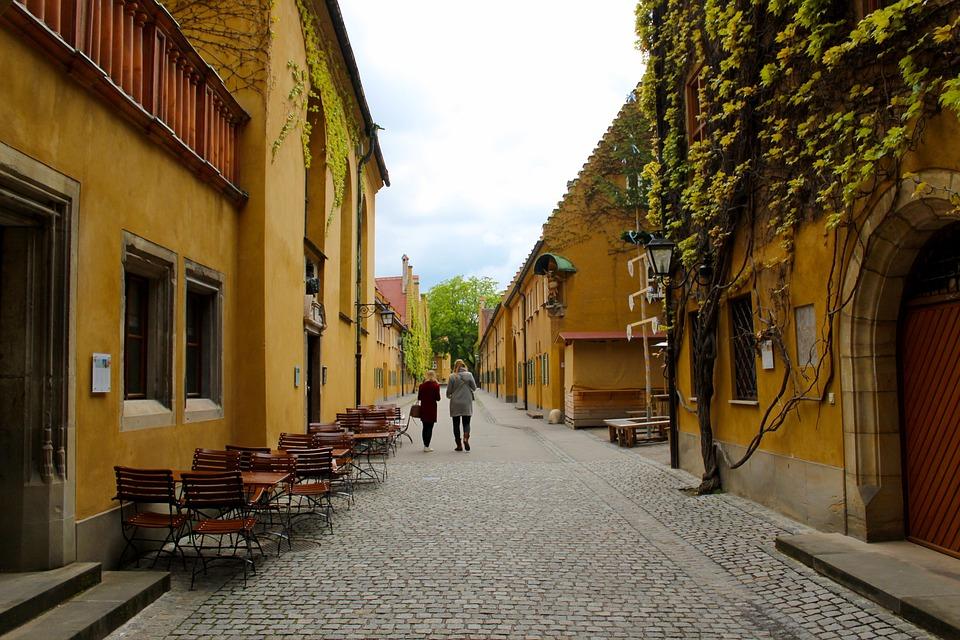 Augsburg, Fuggerei, Gebäude, Bayern, Deutschland