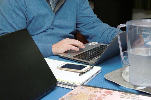 オフィス, 着手, 起業家精神, 起業家, 仕事, ポータブル
