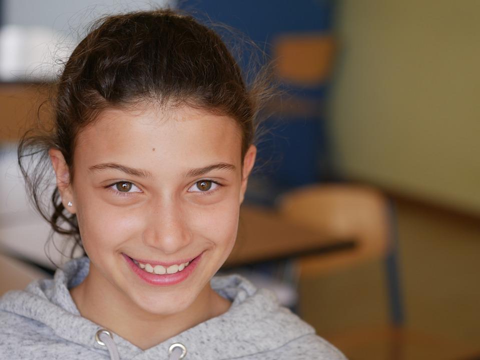 Египетският Момиче, Египетски, Студент, Училище, Момиче
