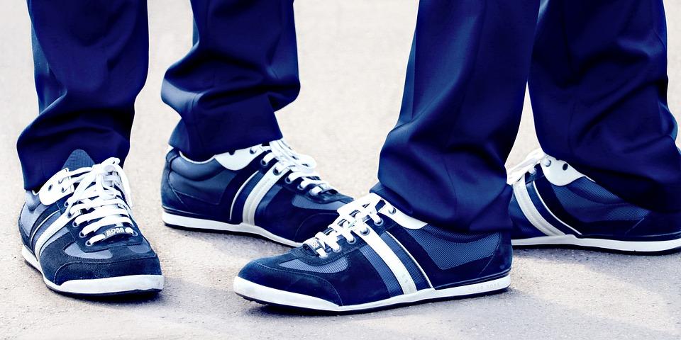 Partnerlook, 运动鞋, 对, 婚礼, 装备, 鞋, 时尚, 脚, 男性, 最酷的, 服装, 样式