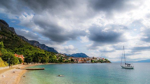 Bucht, Segelschiff, Ort, Mediterran