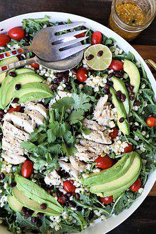 Chicken, Salad, Dinner, Food, Healthy