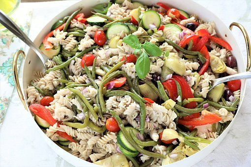 Pasta, Salad, Vegan, Vegetarian, Healthy