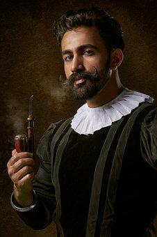 Pipe, Smoke, Man, Beard, Addiction