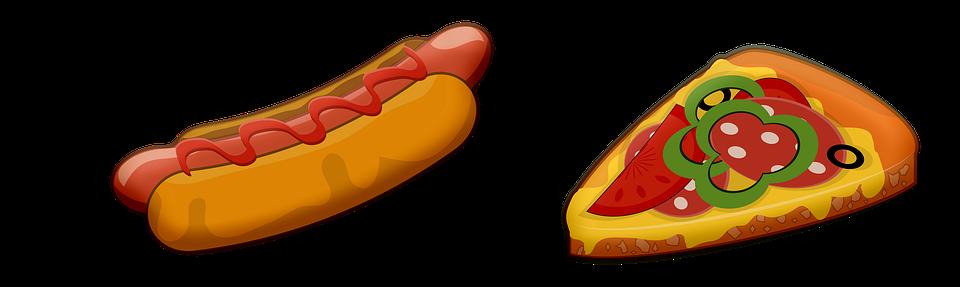 Pizza Hot Dog Fast Food Free Image On Pixabay