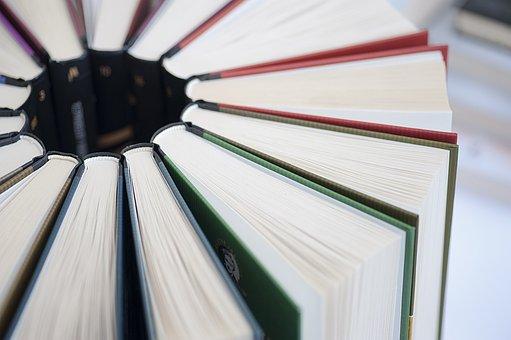 Livros, literatura, close-up, leitura