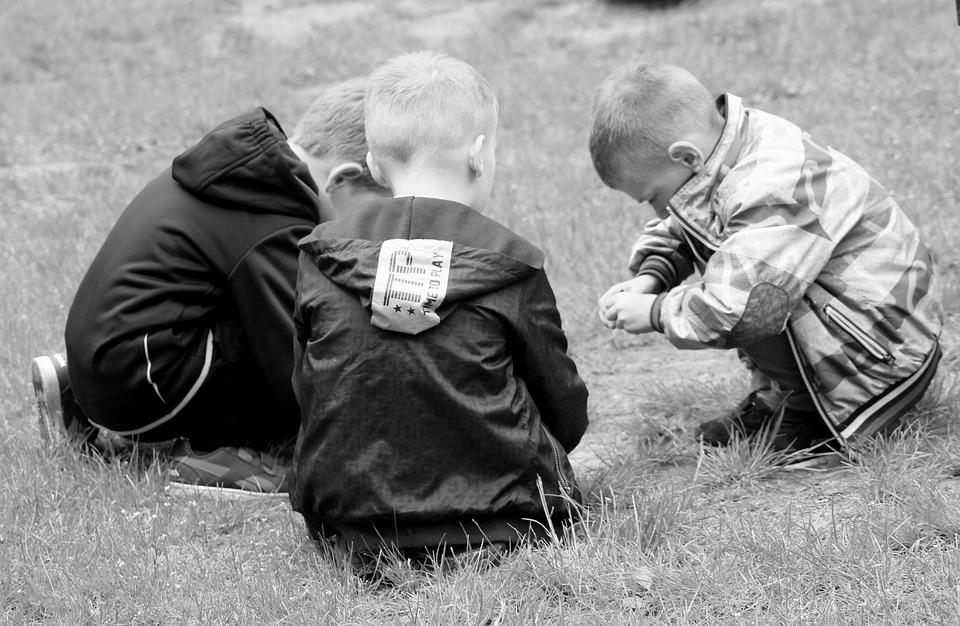 Crianças, Diversão, Conversa, Infância, Amigos