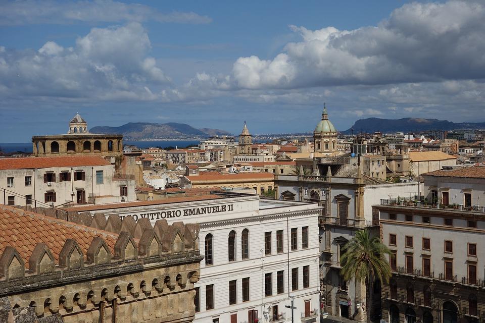Palermo, Sizilien, Italien, Skyline, Stadt, Architektur